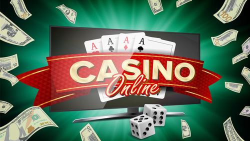 illustration de la bannière d'un casino en ligne qui est affichée sur un écran